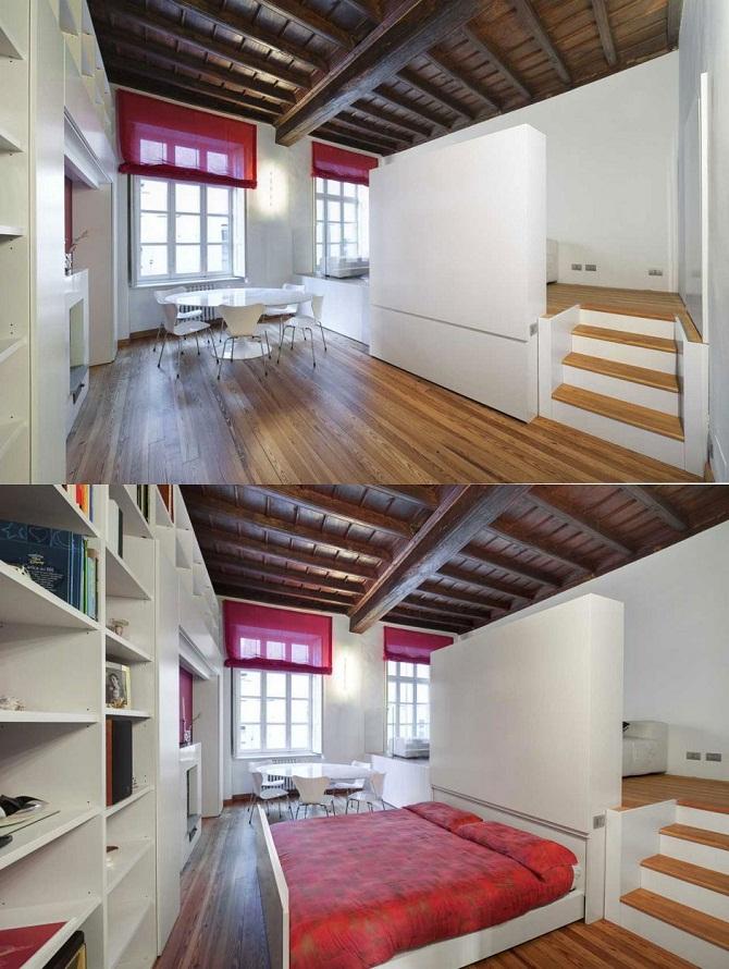Underfloor bed design