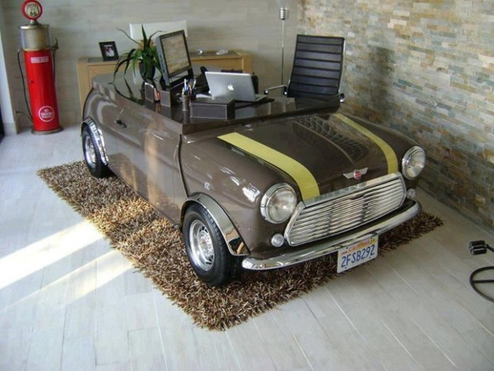 Mini cooper work desk