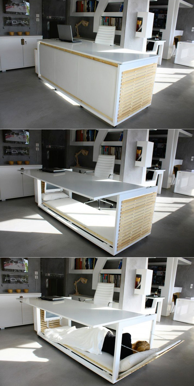 Creative Work desk with bed