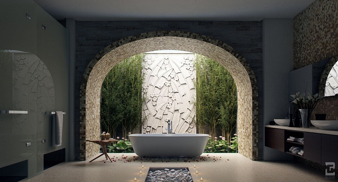 Cool bathroom design