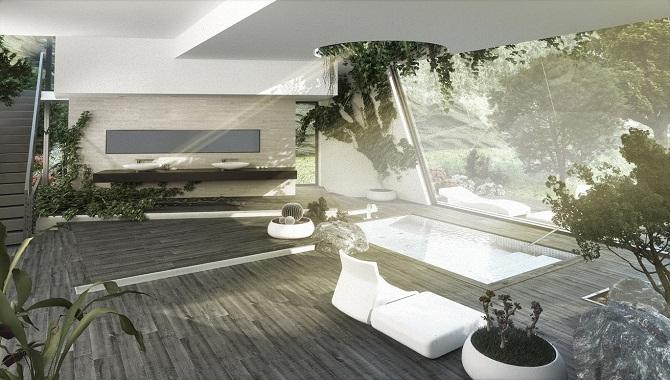 Garden bathroom concept