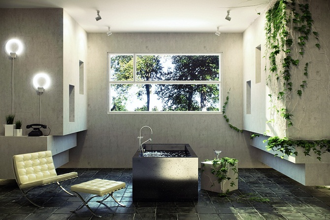 Nature concept for bathroom