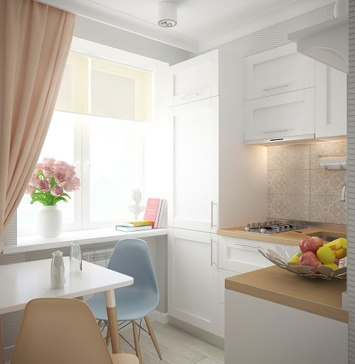 Bright Shade To Decorate A Small Apartment