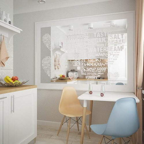 Kitchen Room Design In A Small Apartment