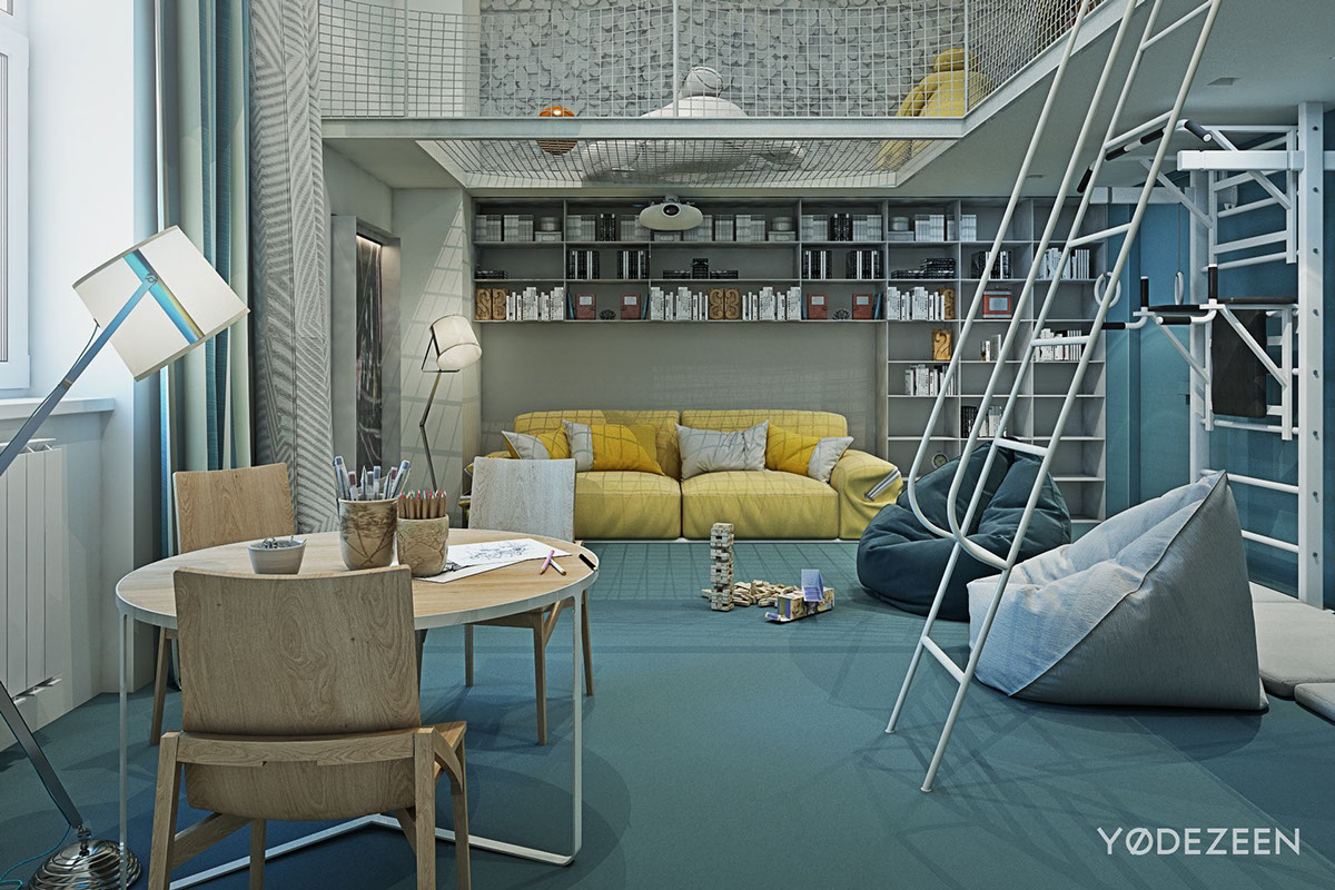 Adorable apartment design for kids with lots of funny for Amazing kids bedroom ideas