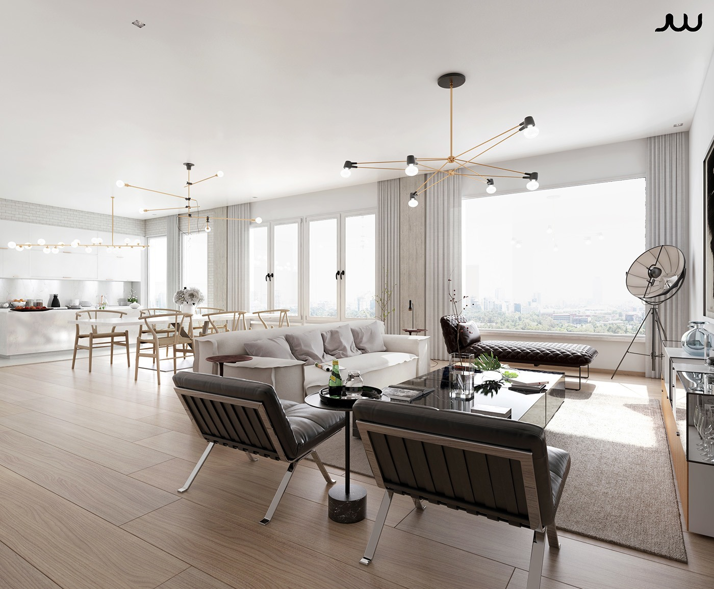 Awesome luxury apartment design ideas by javier wainstein for Modern luxury apartment design