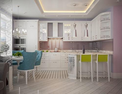 An Unique Blue Colour For Designing An Apartment