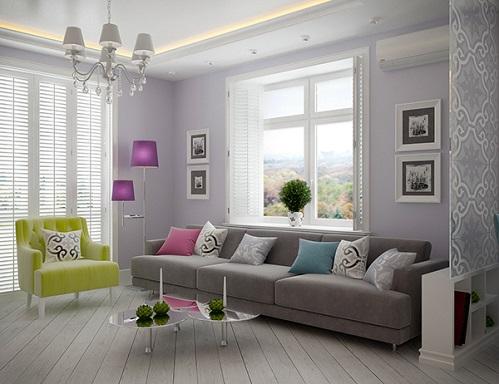 Blue Colour For Apartment Design