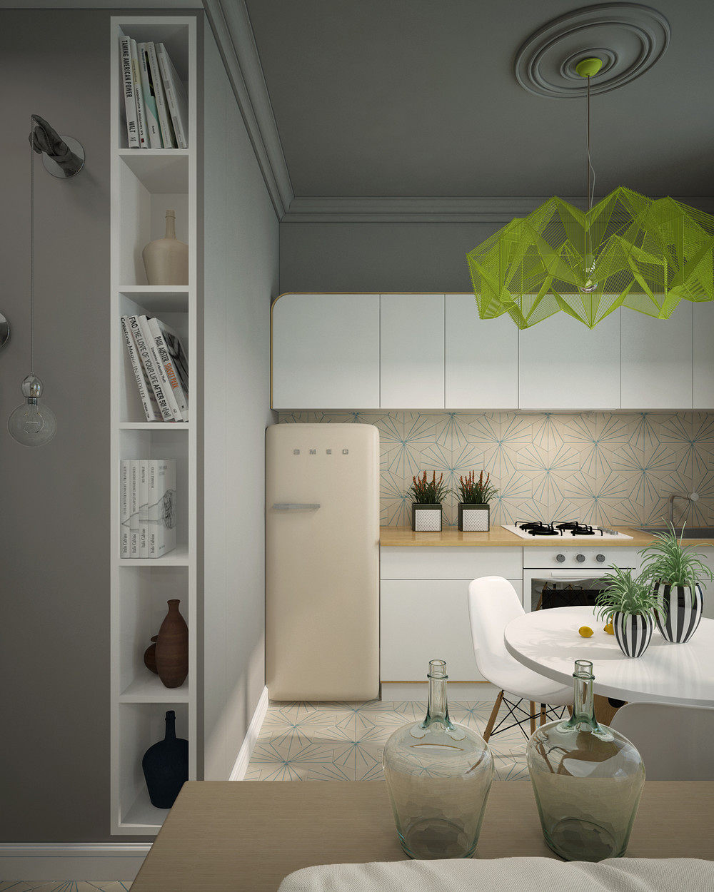 Bright Kitchen Interior Natural Nuance To Apply This Small Apartment Design With Simple And Modern Interior