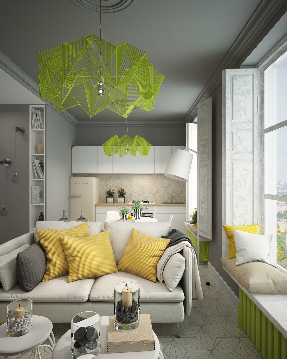 Colorful apartment ides for small apartment