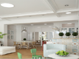 A Creative Concept For Kitchen, Dining Room, And Living Room All In One Space