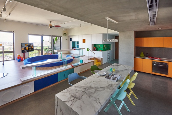 Colorful modern interior