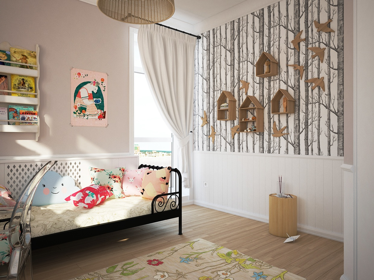 Cute girl's room decoration