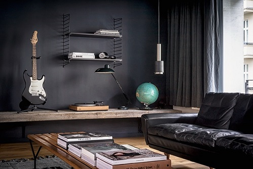 Eclectic Design Suits For Single Apartment