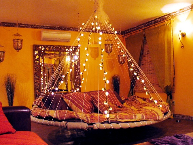 beautiful floating bed