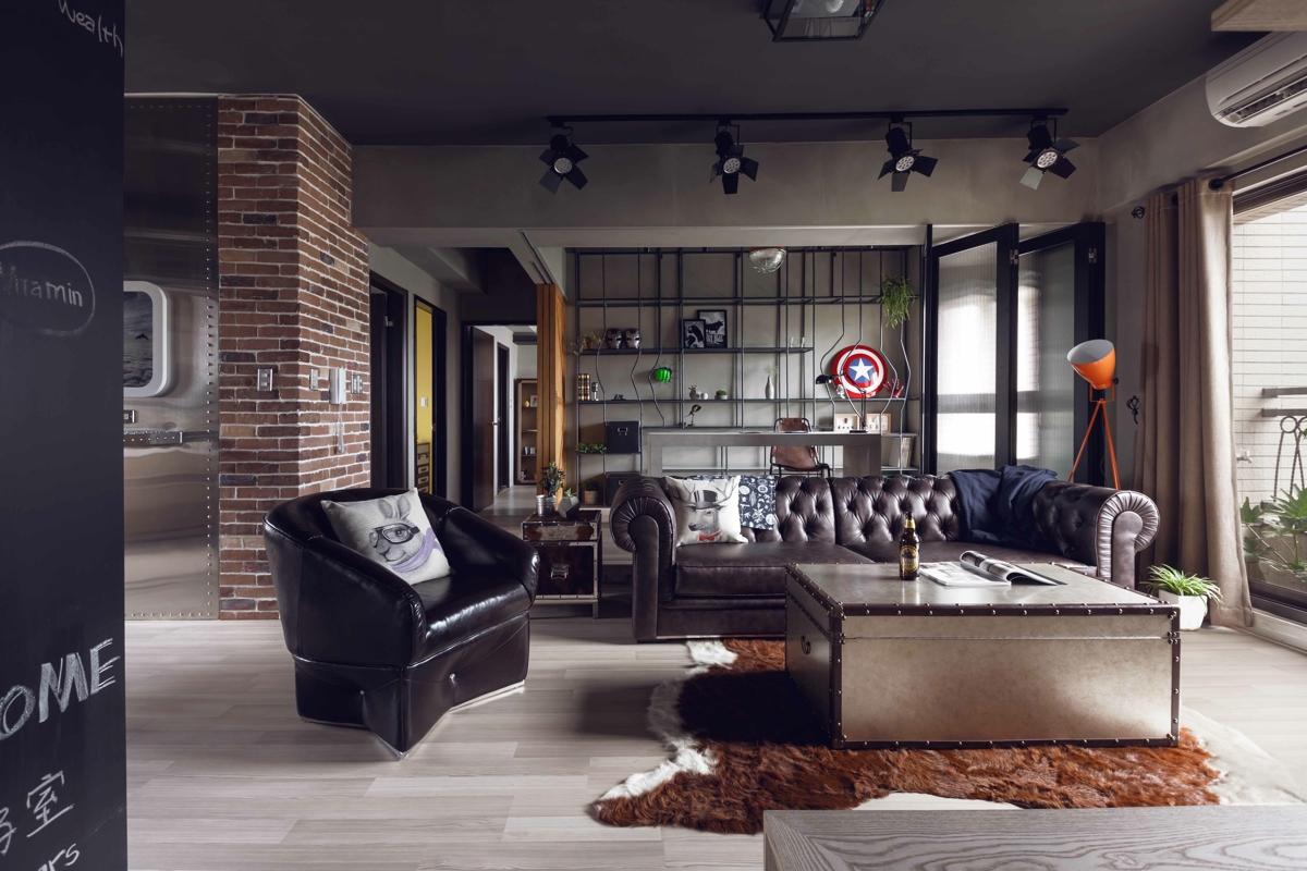 Masculine apartment design