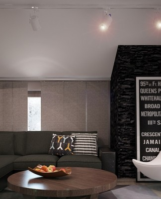 Monochrome Style For Living Room