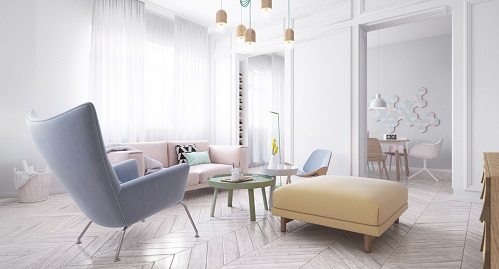 Scandinavian Design Suits In Living Room