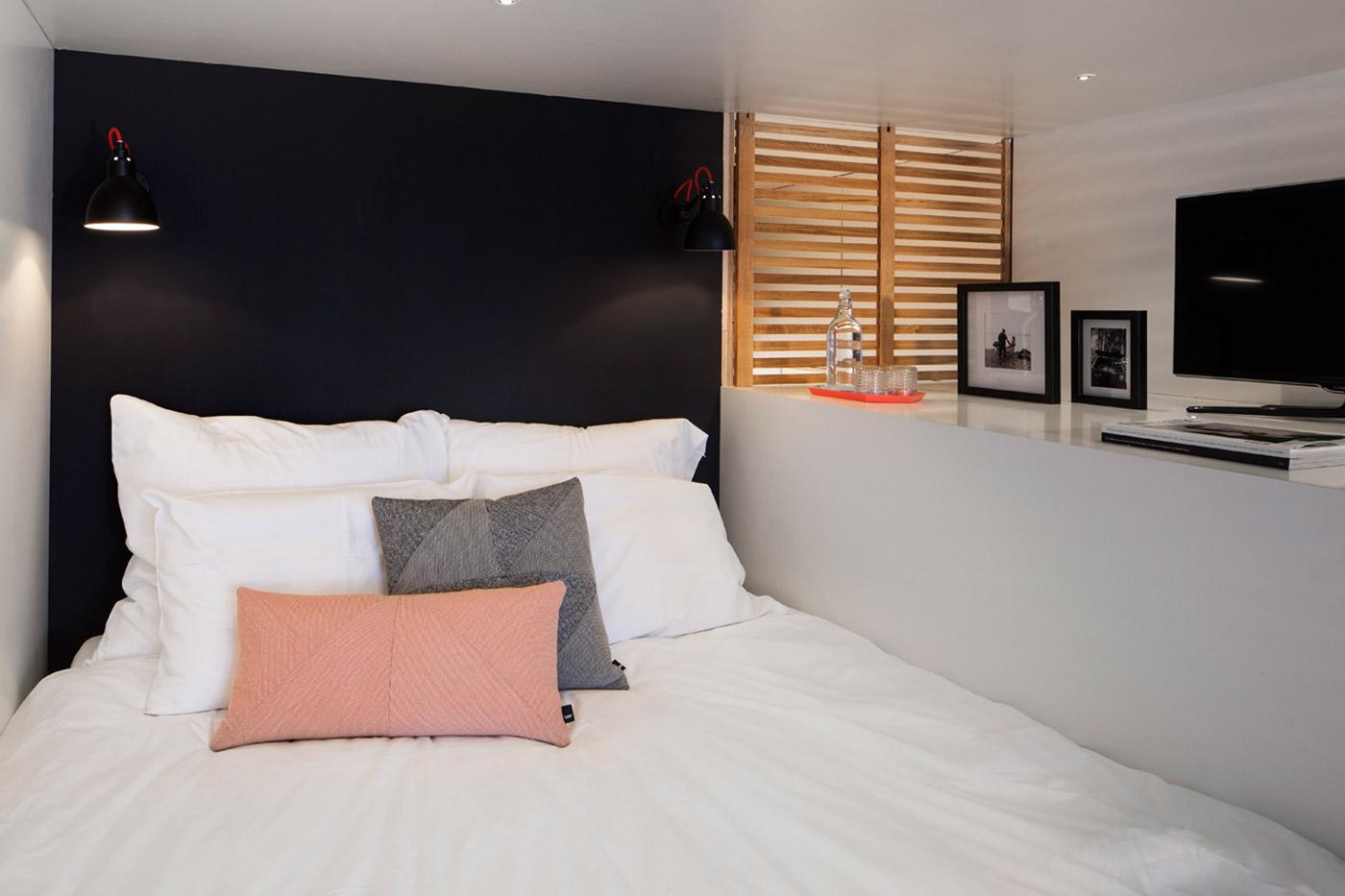 Small lofted bed idea