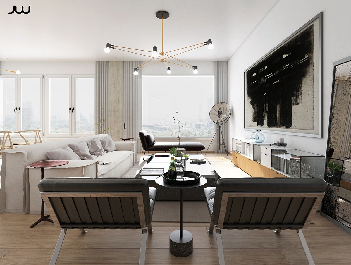 Awesome luxury apartment design ideas by javier wainstein for Luxury apartment design ideas