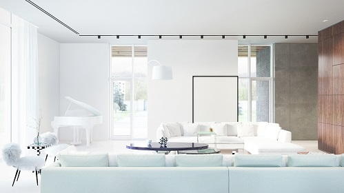 Modern Interior Brings Bright Effect In Living Room