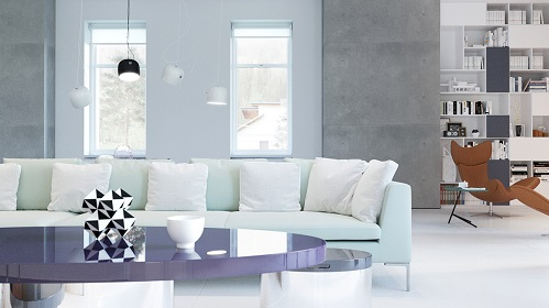 Modern Interior Shows Bright Shades For Living Room
