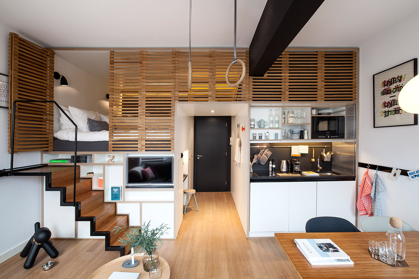Small Apartment Design With Awesome Lofted Decor Ideas Roohome
