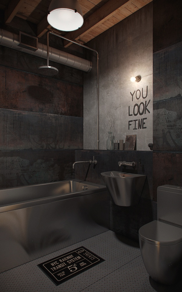 Cool bathroom design for men