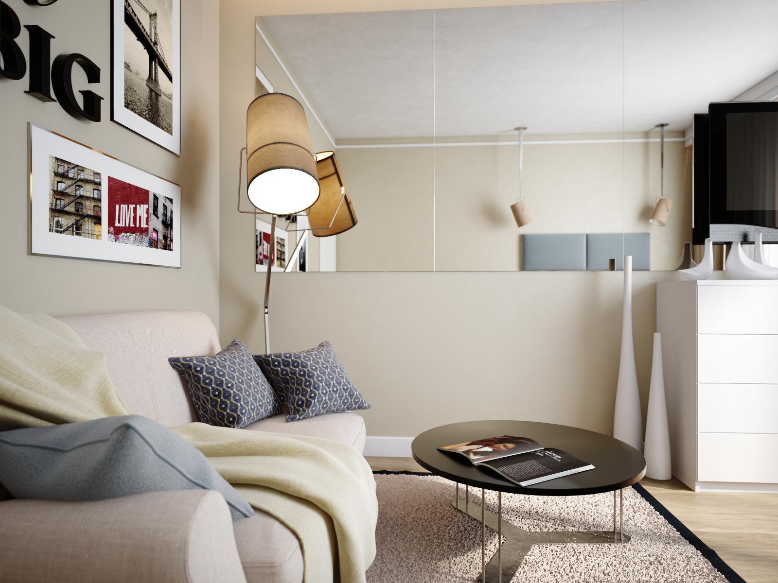 Light living room decoration