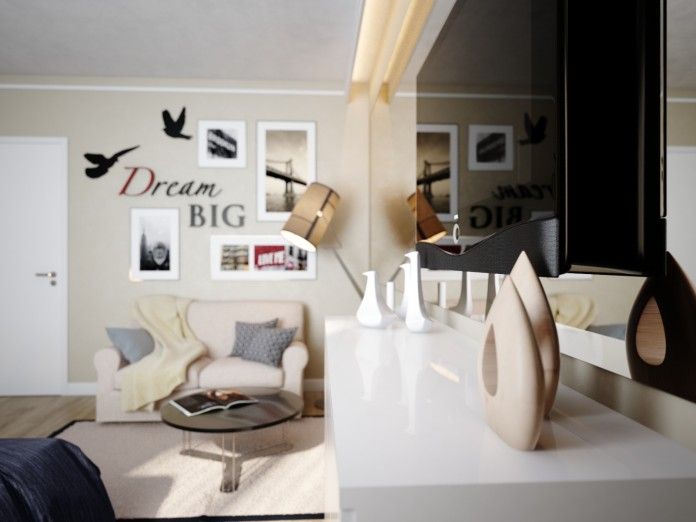 Creative apartment design for young generation