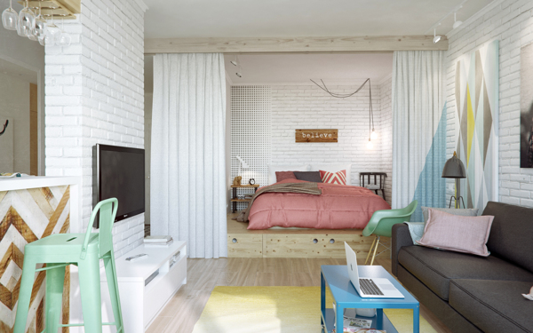 How to make an awesome open plan in a small apartment