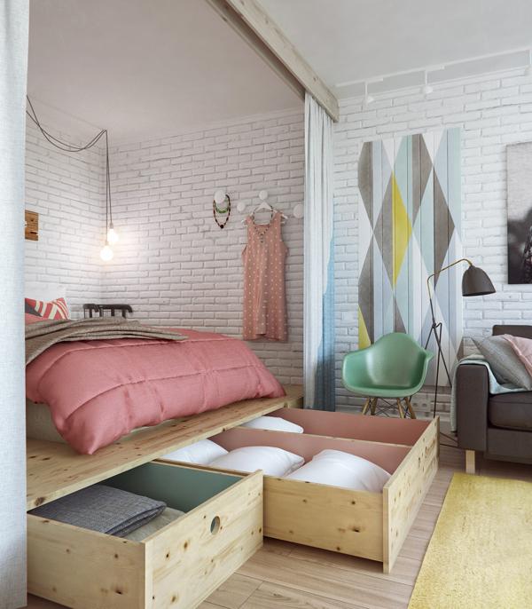 Creative storage in the bedroom