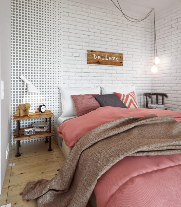 Creative bedroom scheme