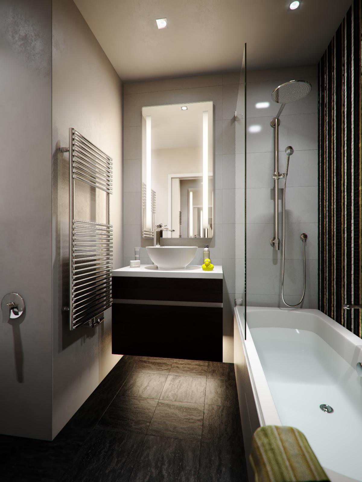 Modern and minimalist bathroom design
