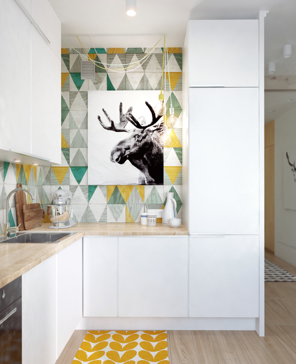 How to apply unusual kitchen tiles