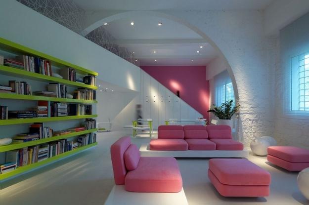 Best living room design for Pink addict