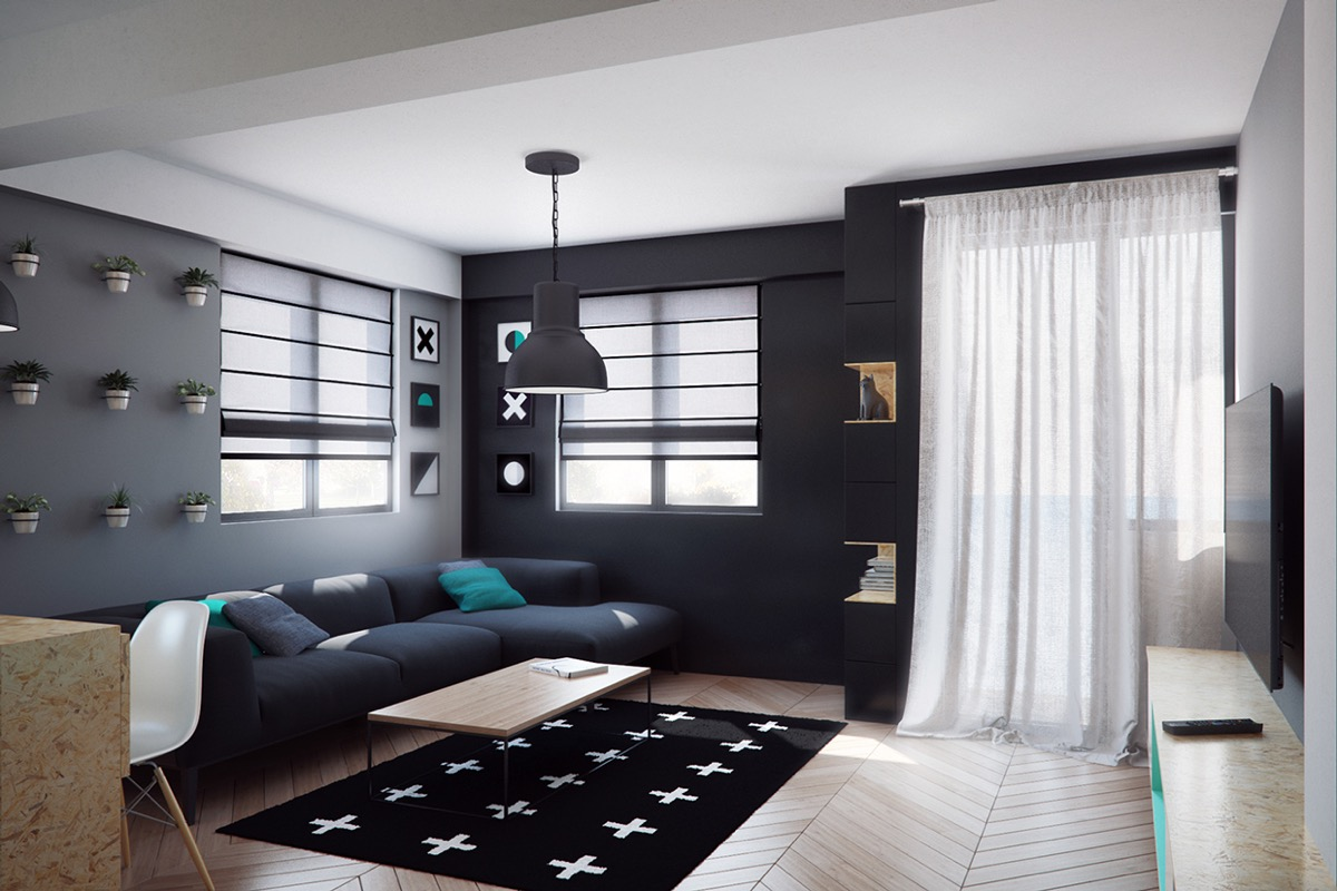 Black wall decoration