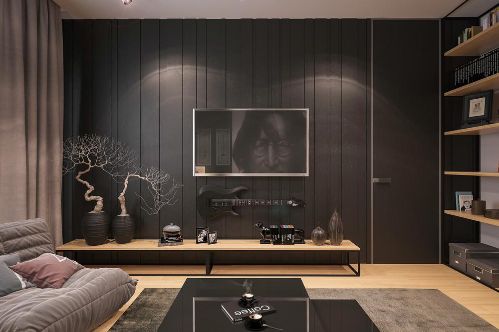 Black side decoration