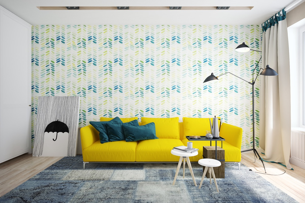 Blue and yellow interior ideas