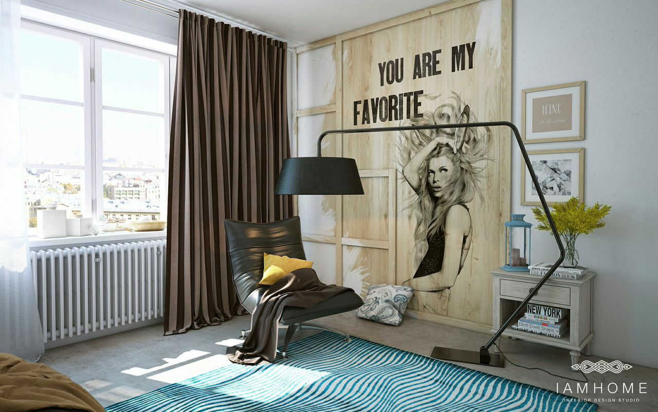 Cool and stylish bedroom decoration