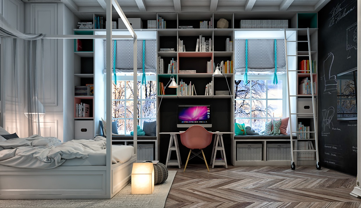 Book storage inspiration for teens room