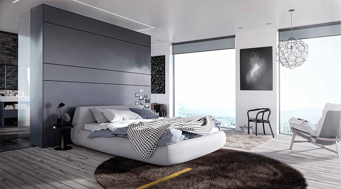 Simple and elegant bedroom