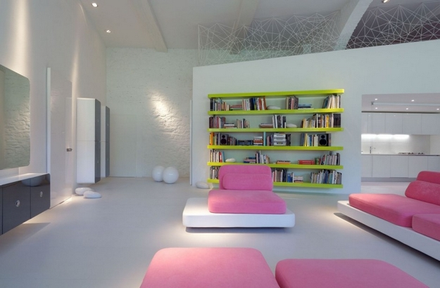 Pink color interior