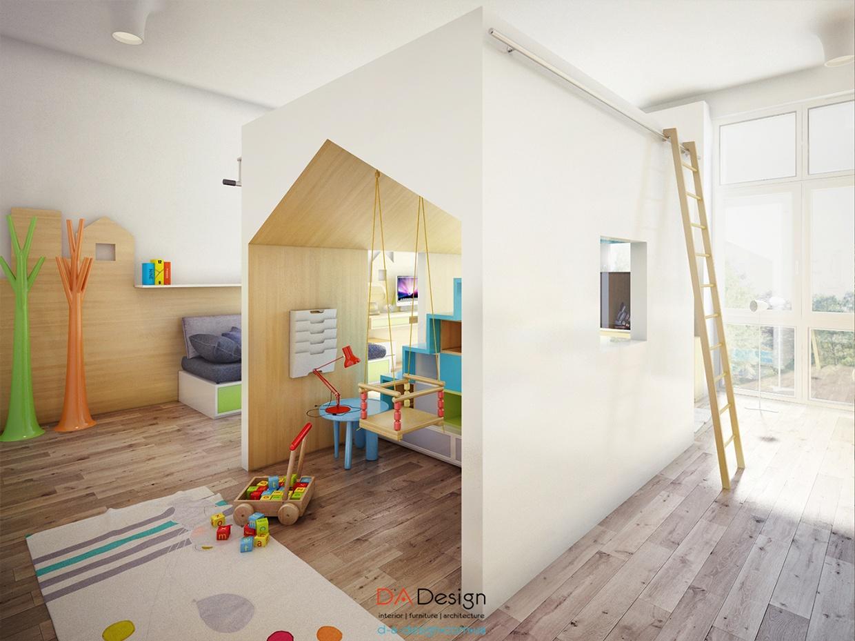 Colorful bedroom design for kids