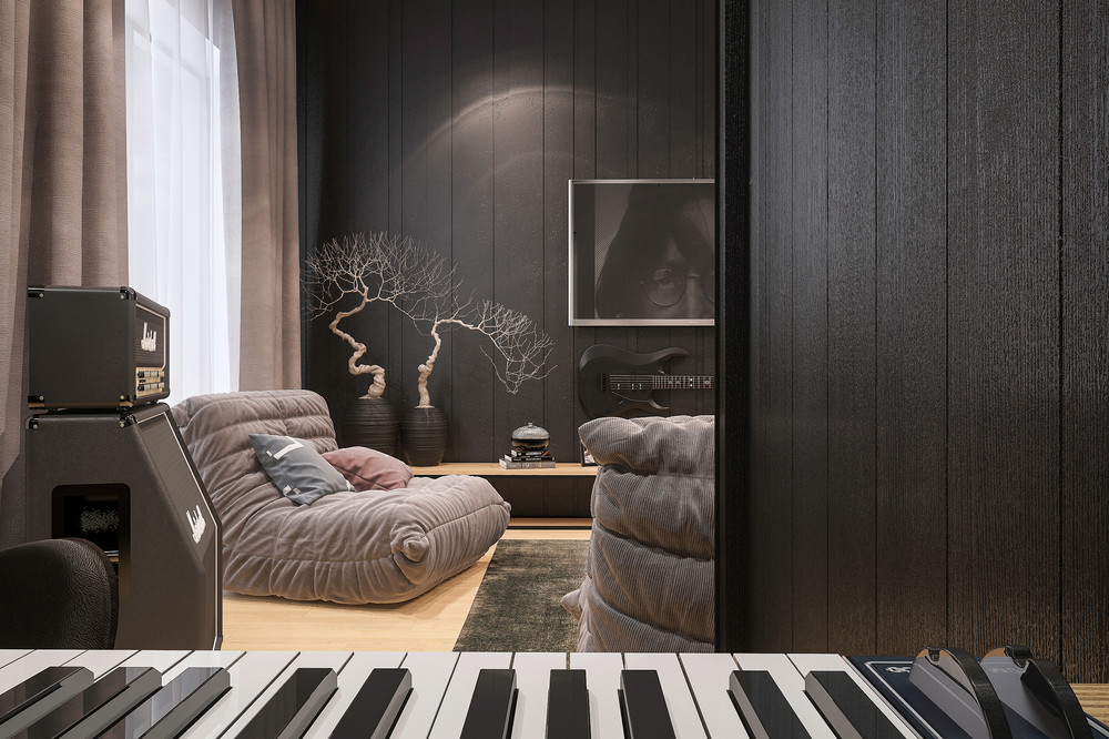 How To Create Awesome Living Room With Music Theme