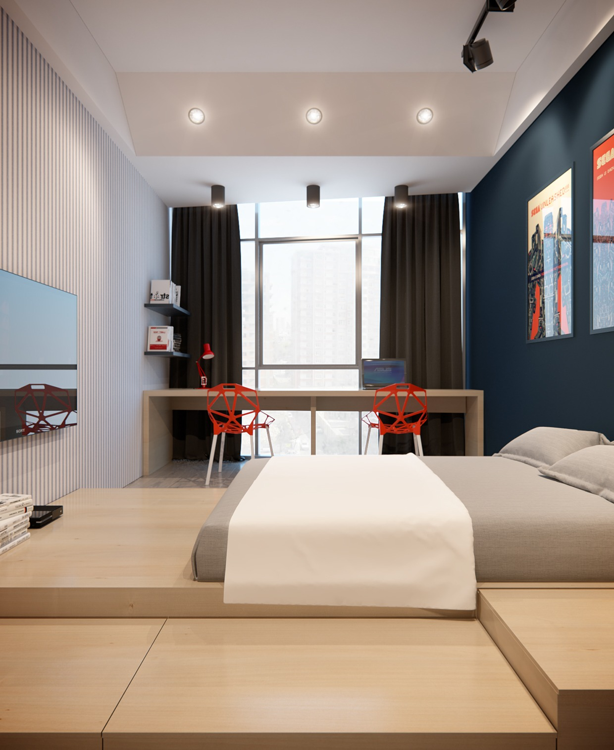 Creative bedroom decoration
