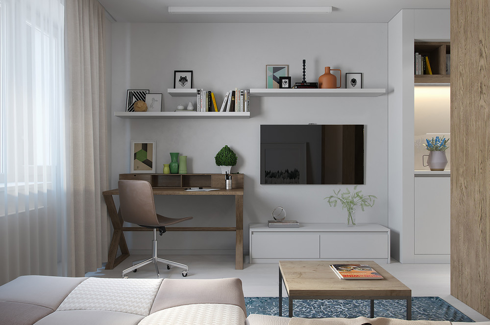 Cute studio for young couple
