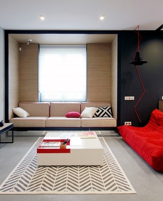 Bedroom design with primary color