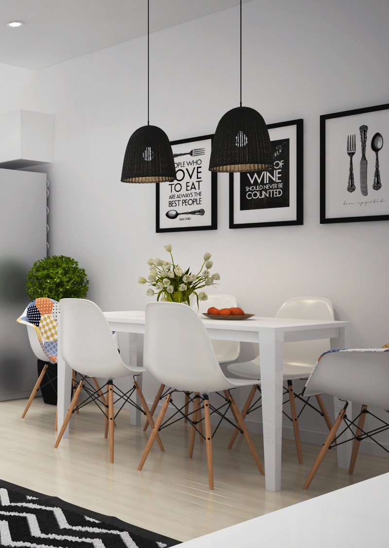 Simple and cute dining table