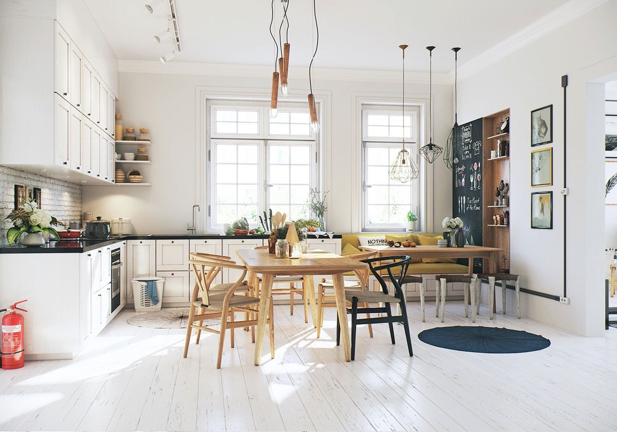 Compact dining room design